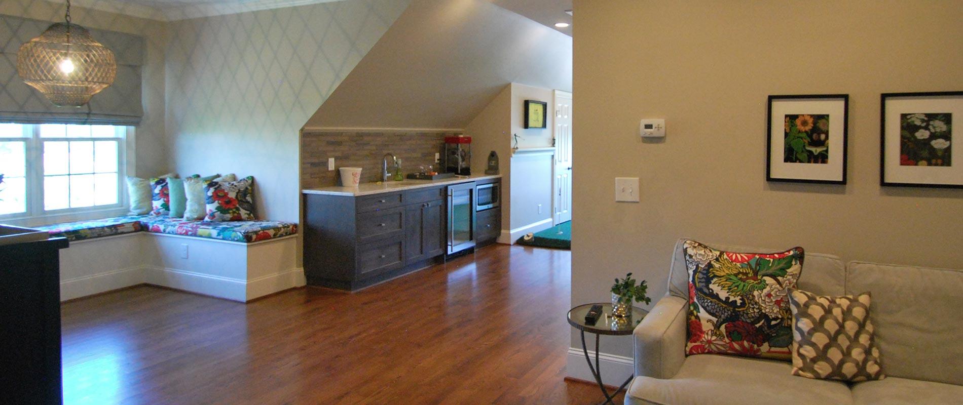 Living Room Renovation | Complete Construction Company | Apex, NC