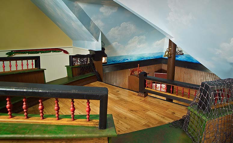 Child's Ship Themed Play Room