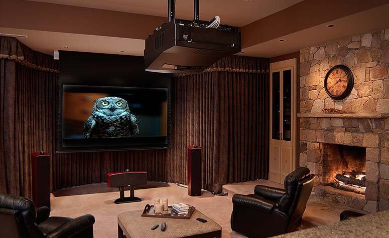 Den with Large Screen