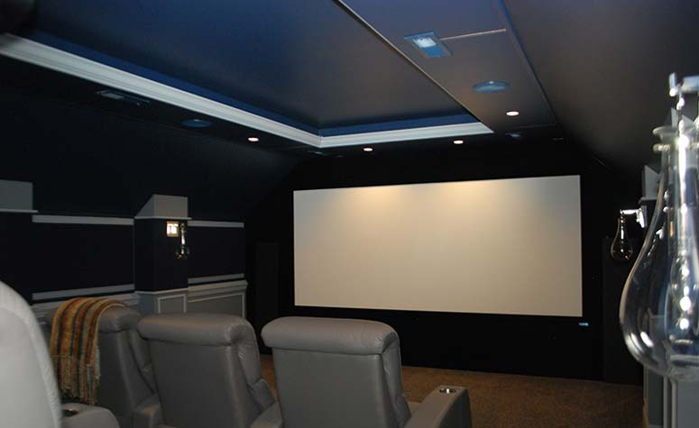 Gray Theatre Room